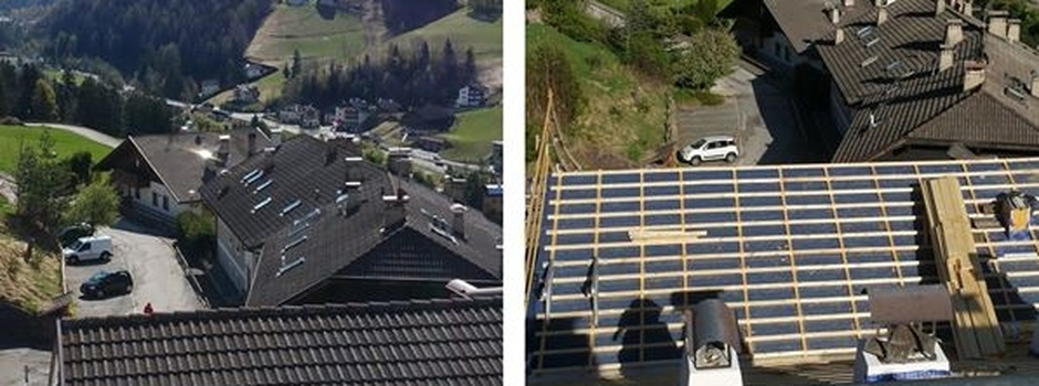 Working in progress in Ortisei: before and during